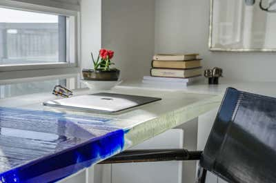 Contemporary Office and Study.  Benson Tower Condo by John Thompson Designer.