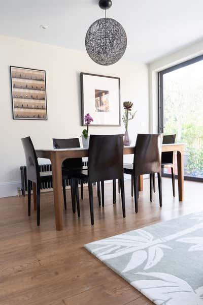 Contemporary Dining Room. Kitchen living space refurbishment CR75 by Elemental Studio Ltd.