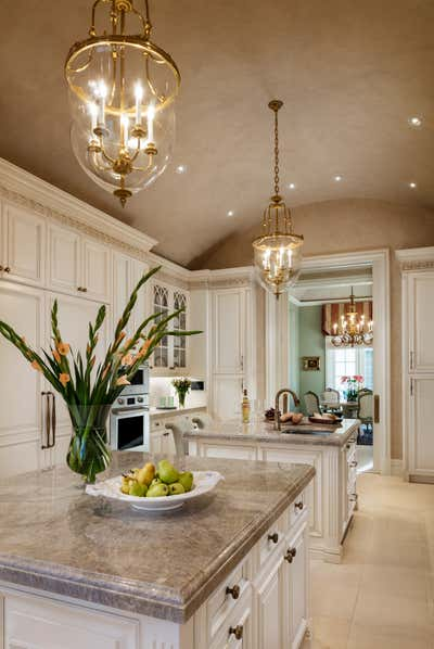 Transitional Kitchen. Palm Beach Estate  by Gil Walsh Interiors.