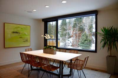 Organic Dining Room. Park City Modern Townhome by Casa Nu.