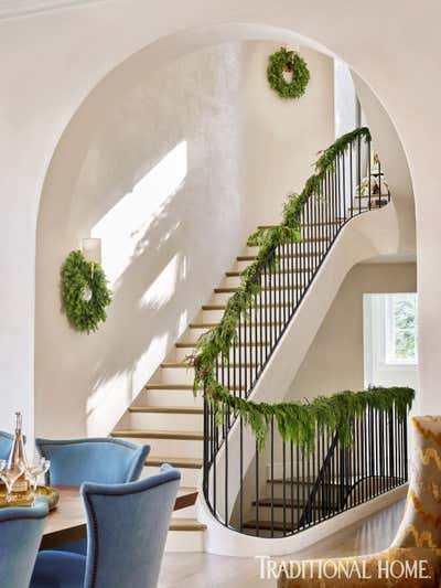 Contemporary Entry and Hall. Traditional Home Cover Story by Bridget Beari Designs.