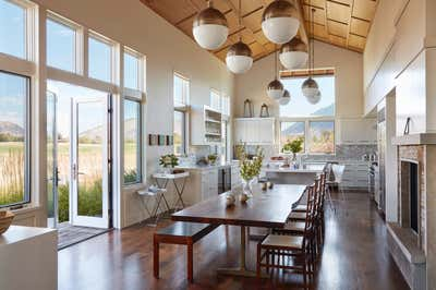 Western Kitchen. Jackson Hole Ranch House Modern by Tichenor and Thorp Architects.