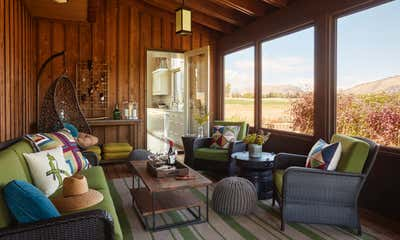 Western Patio and Deck. Jackson Hole Ranch House Modern by Tichenor and Thorp Architects.