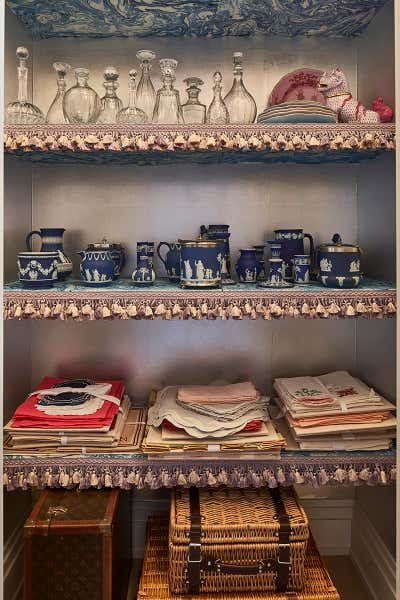 Eclectic Pantry. Hampton Designer Showhouse by Starrett Hoyt LLC.