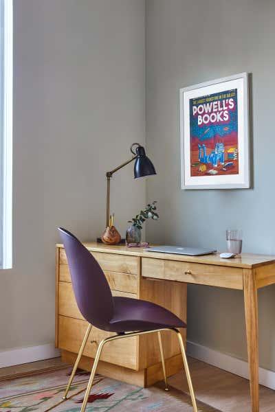 Modern Office and Study. Boerum Hill Penthouse Duplex by Indigo and Ochre Design.
