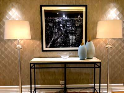 Art Deco Apartment Entry and Hall. Eldorado Pied-a-terre by Pleasant Living.