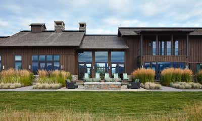Western Exterior. Jackson Hole Ranch House Modern by Tichenor and Thorp Architects.