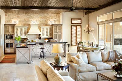 Transitional Vacation Home Open Plan. La Quinta Getaway by Willetts Design & Associates.