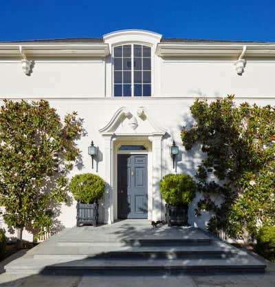 Art Deco Family Home Entry and Hall. Beverly Hills by David Desmond, Inc..