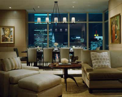 Transitional Apartment Open Plan. East 58th Street Apartment by Eve Robinson Associates.