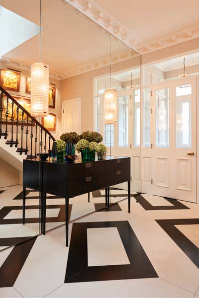 Art Deco Family Home Entry and Hall. Playfully Luxurious Period Property  by Designed by Woulfe.