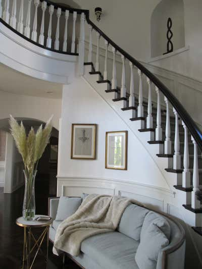 Art Deco Family Home Entry and Hall. So Cal Estate by Michelle Workman Interiors.