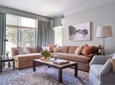 Transitional Living Room. Presidio Heights Apartment by Marea Clark Interiors.