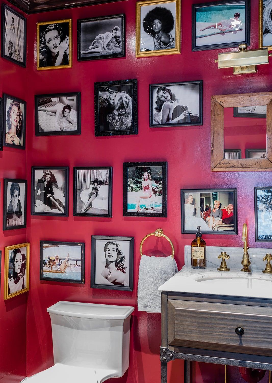 Powder Room with Female Movie Stars
