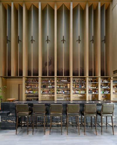 Contemporary Bar and Game Room. Ensue by Chris Shao Studio LLC.
