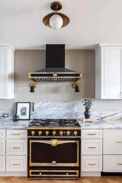 Eclectic Kitchen. West Hollywood Pied-a-Terre by Nate Berkus Associates.
