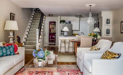 Transitional Apartment Open Plan. Small Space Living by Powell Brower Interiors.