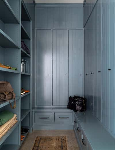Eclectic Storage Room and Closet. Fox Island by Heidi Caillier Design.