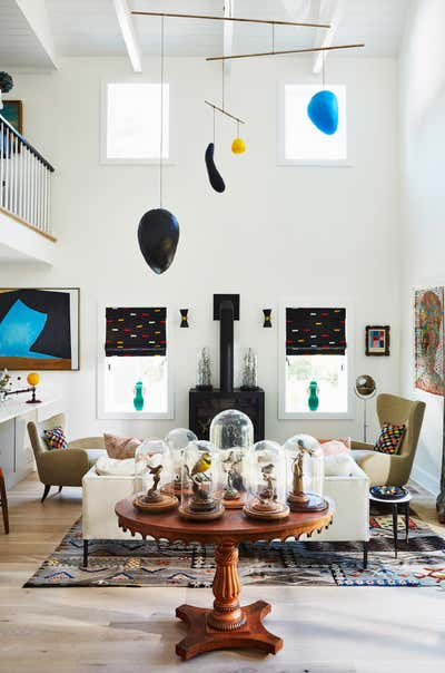 Eclectic Living Room. Hay House by Sheila Bridges Design, Inc.