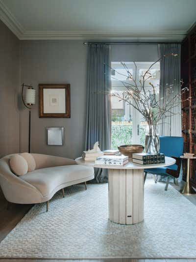 Eclectic Meeting Room. Townhouse in South Kensington  by Irakli Zaria Interiors.