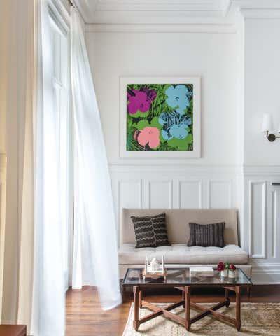 Eclectic Meeting Room. Manhattan Towhnouse by Kerry Joyce Associates, Inc..