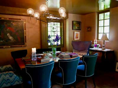Eclectic Dining Room. Artist Studio by Kat Burki.