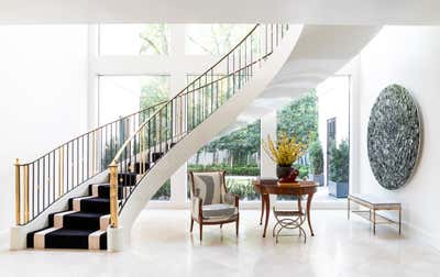Art Deco Family Home Entry and Hall. ENTRY by Elizabeth Young Design.
