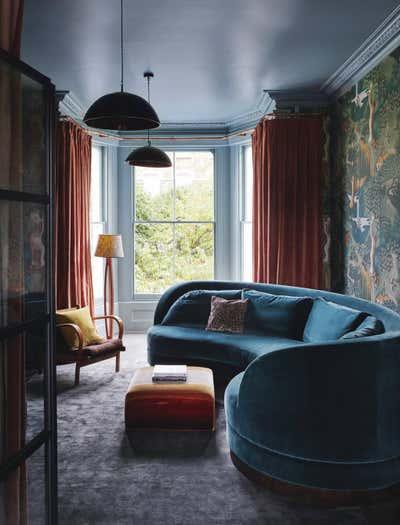 Art Deco Living Room. NorthLondon Villa by Rachel Chudley.