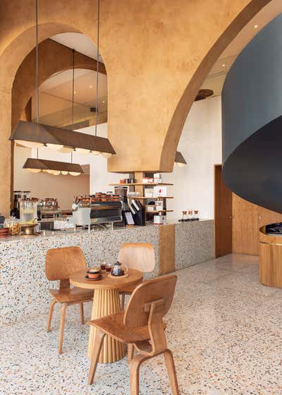 Art Deco Restaurant Open Plan. Deco Temple by Azaz Architects.