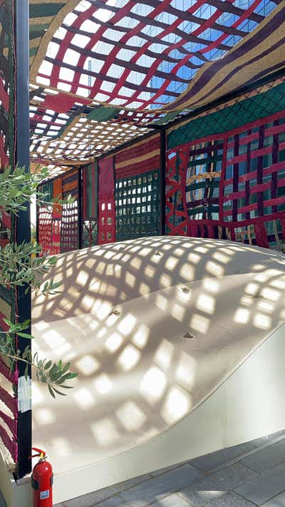 Entertainment/Cultural Bar and Game Room. SA'AF Pavilion by Azaz Architects.