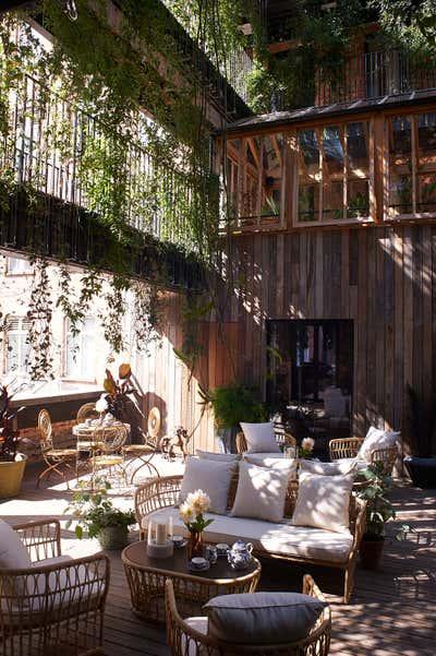 Hotel Patio and Deck. Mandrake Hotel by Tala Fustok Studio.