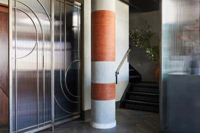 Art Deco Bachelor Pad Entry and Hall. SoHo Penthouse by Jesse Parris-Lamb.
