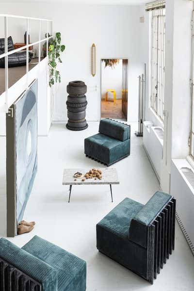 Industrial Entry and Hall. Milano loft by Spinzi Design.