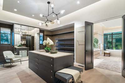 Mid-Century Modern Storage Room and Closet. Dallas Estate  by Sofia Joelsson Design Studio.