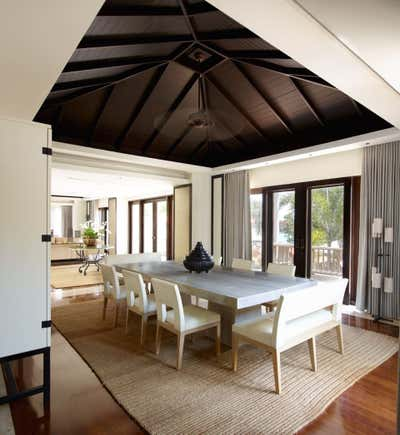 Coastal Dining Room. Villa - Thailand by Thorp.