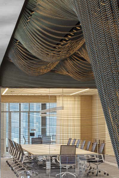 Contemporary Meeting Room. 55 Hudson Yards by Schiller Projects.