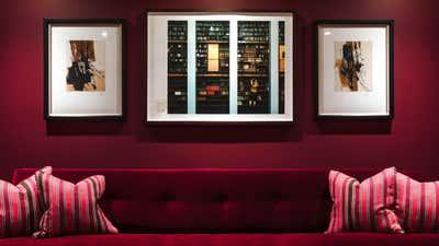 Art Deco Bar and Game Room. Kensington Town House by Balzar London.