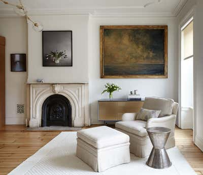 Preppy Living Room. Fort Greene Townhouse by BarlisWedlick Architects LLC.