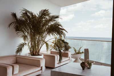 Coastal Patio and Deck. Miami Paradise by Night Palm Studio.