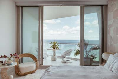 Coastal Bedroom. Miami Paradise by Night Palm Studio.
