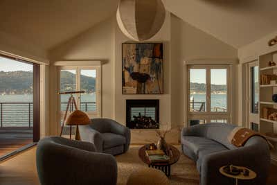 Coastal Living Room. SF Beach House by Night Palm Studio.
