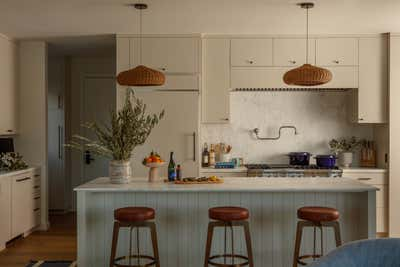 Coastal Kitchen. SF Beach House by Night Palm Studio.