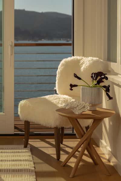 Coastal Bedroom. SF Beach House by Night Palm Studio.