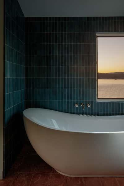 Coastal Bathroom. SF Beach House by Night Palm Studio.