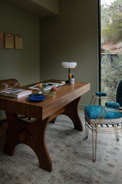 Beach Style Office and Study. Pine Needles by Michael Hilal.
