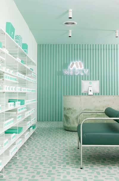 Healthcare Workspace. Medly Pharmacy by Sergio Mannino Studio.