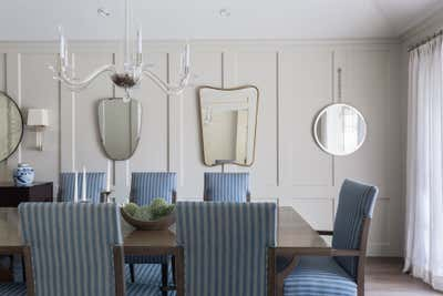 Transitional Dining Room. Little Holmby by Partridge Designs.