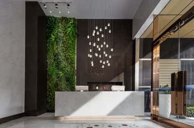Contemporary Lobby and Reception. Lobby in Shenzhen by Sergio Mannino Studio.