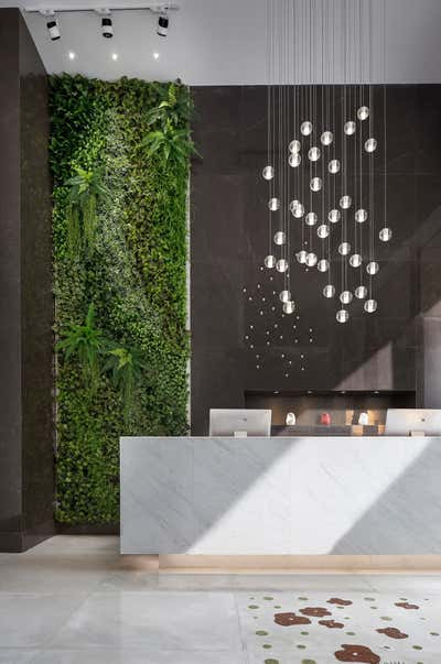 Mixed Use Lobby and Reception. Lobby in Shenzhen by Sergio Mannino Studio.