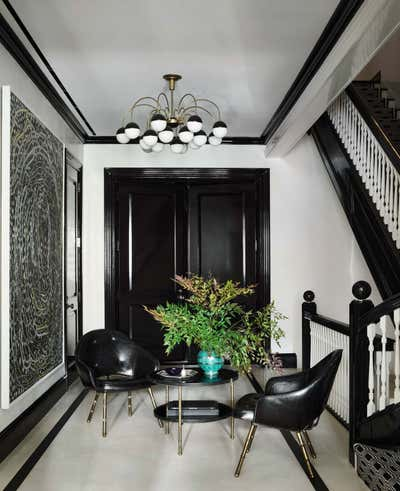 Art Deco Family Home Entry and Hall. Upper East Side Townhouse by CARLOS DAVID.